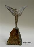 Angels sway by Janis Ridley, Sculpture, Bronze