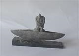 Boat man by Janis Ridley, Sculpture, Bronze