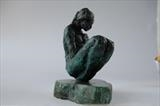 Cradled by Janis Ridley, Sculpture, Bronze