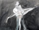 Dance moment by Janis Ridley, Drawing, ink on paper