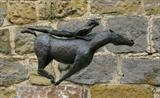 Horse and woman by Janis Ridley, Sculpture, Bronze