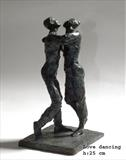 Love dancing by Janis Ridley, Sculpture, Bronze