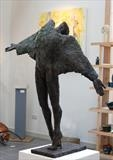 Rugged Angel by Janis Ridley, Sculpture, Bronze