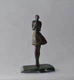 Say it with flowers by Janis Ridley, Sculpture, Bronze