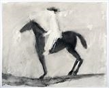 Woman on Horseback by Janis Ridley, Drawing