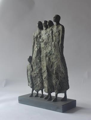 Family Group by Janis Ridley, Sculpture, Bronze