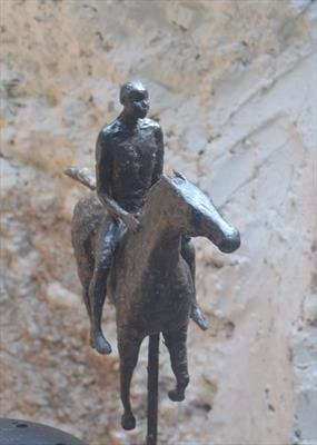 Horseman by Janis Ridley, Sculpture, Bronze