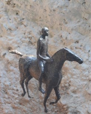 Horseman by Janis Ridley, Sculpture
