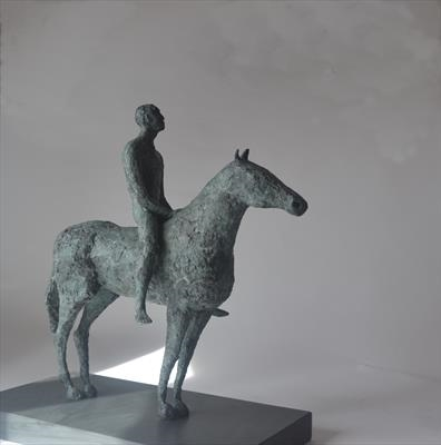 Man and Horse by Janis Ridley, Sculpture