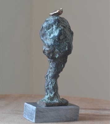 Tree and Bird by Janis Ridley, Sculpture, Bronze